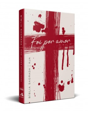 Bíblia King James Atualizada - capa dura slim - Cruz - foi por amor