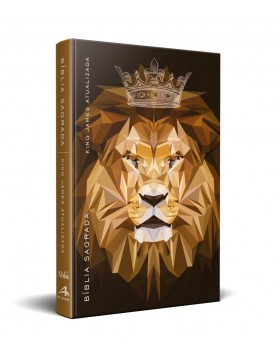 Bíblia King James Atualizada - capa dura slim - Rei dos reis geométrico