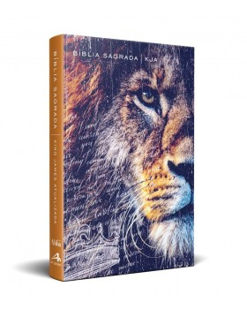 Bíblia King James Atualizada - capa dura slim - Leão de Judá