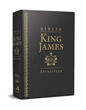 Bíblia de Estudo King James Atualizada - letra grande - capa luxo preta