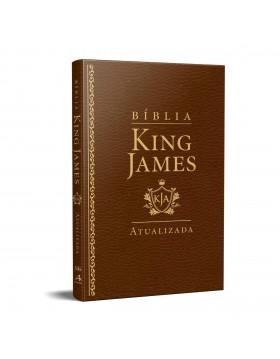 Bíblia King James Atualizada - slim - luxo castanho