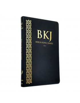 Bíblia King James 1611 - capa ultra-fina - luxo preta