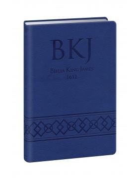 Bíblia King James 1611 - letra grande - capa ultra-fina - luxo azul