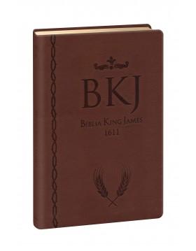 Bíblia King James 1611 - letra grande - capa ultra-fina - luxo castanha