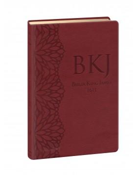 Bíblia King James 1611 - letra grande - capa ultra-fina - luxo vinho