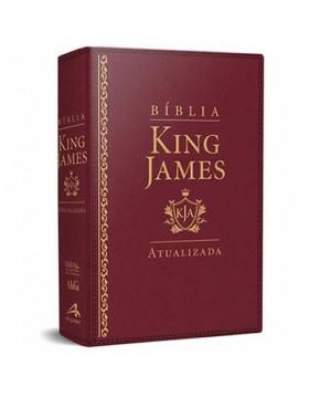 Bíblia de Estudo King James Atualizada - letra grande - capa luxo vinho