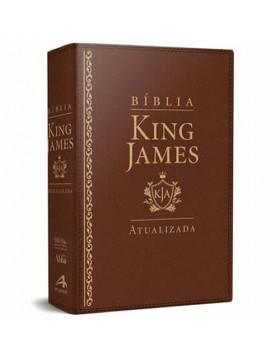 Bíblia de Estudo King James Atualizada - letra grande - capa luxo castanho