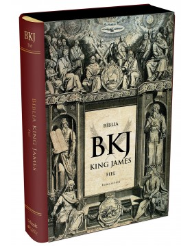 Bíblia King James 1611 - capa luxo vinho