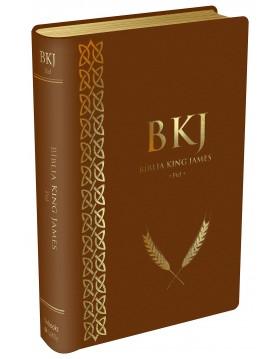 Bíblia King James 1611 - capa luxo castanha