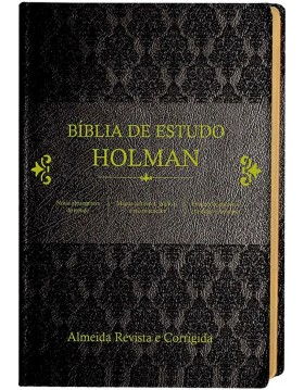 Bíblia de Estudo Holman - capa luxo preta