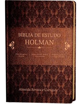 Bíblia de Estudo Holman - capa luxo castanha