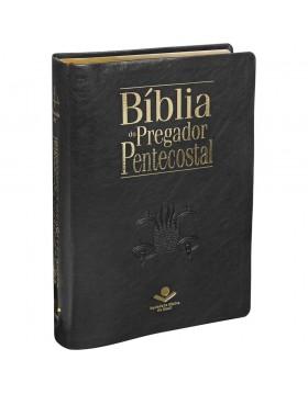 Bíblia do Pregador Pentecostal - grande - capa luxo preta nobre