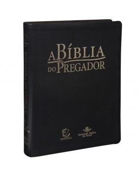 Bíblia do Pregador - capa em couro sintético - Preta