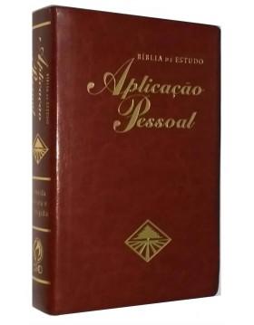 Bíblia de Estudo Aplicação Pessoal - grande - capa luxo couro bonded - Vinho