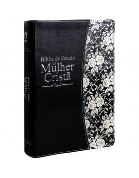 Bíblia de Estudo da Mulher Cristã - grande - capa luxo preta