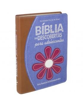 Bíblia das Descobertas para Adolescentes - capa em ganga