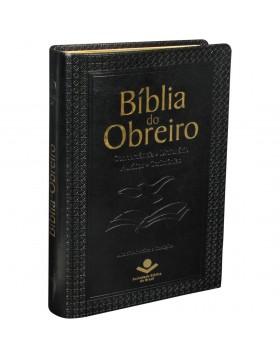 Bíblia do Obreiro - capa em couro sintético - preta