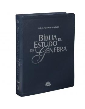 Bíblia de Estudo de Genebra - capa luxo - azul nobre