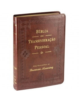 Bíblia de Transformação Pessoal - capa luxo - castanha