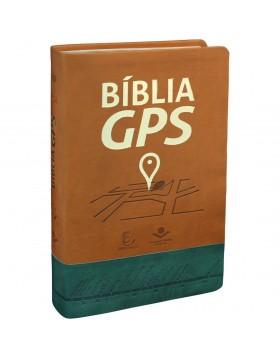 Bíblia GPS - capa luxo - castanha
