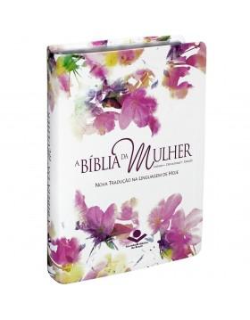 A Bíblia da Mulher - NTLH - capa luxo com índice digital - Aquarela
