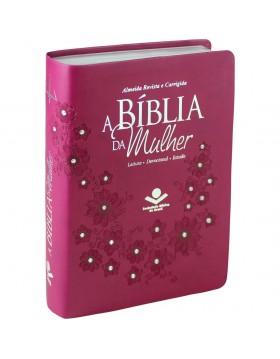 A Bíblia da Mulher - ARC - capa luxo - Vinho com pedras