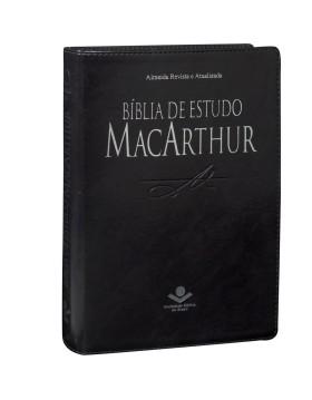 Bíblia de Estudo MacArthur - RA - capa luxo - preto nobre