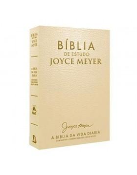 Bíblia de Estudo Joyce Meyer - A Bíblia da Vida Diária - NVI - capa luxo dourada