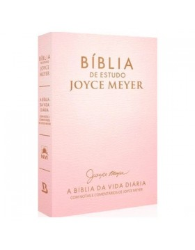 Bíblia de Estudo Joyce Meyer - A Bíblia da Vida Diária - NVI - letra grande - capa luxo dourada