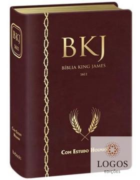 Bíblia de Estudo King James 1611 (com Estudo Holman) - capa vinho