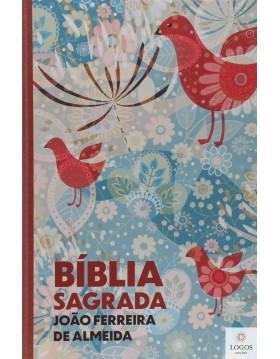 Bíblia Sagrada - ARC - capa semi-flexível - Pássaros com beiras artísticas