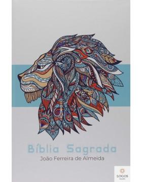 Bíblia Sagrada - ARC - capa semi-flexível - Azul leão com beiras artísticas