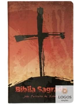 Bíblia Sagrada - ARC - capa semi-flexível - Cruz com beiras artísticas