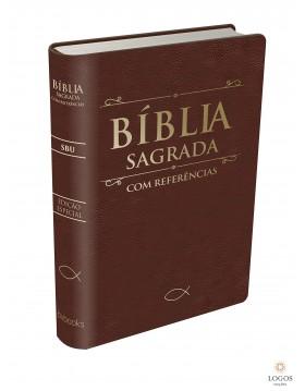 Bíblia sagrada com referências - capa castanha. 9788581580456
