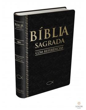 Bíblia Sagrada com referências - capa preta. 9788581580470