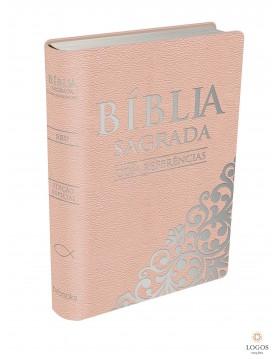 Bíblia Sagrada com referências - capa rosa. 9788581580487