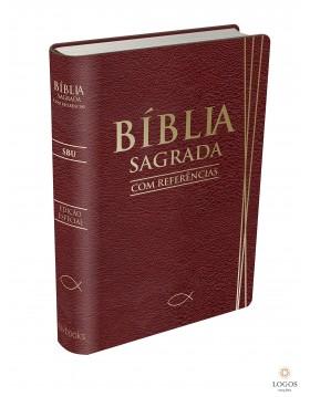 Bíblia Sagrada com referências - capa vinho. 9788581580463