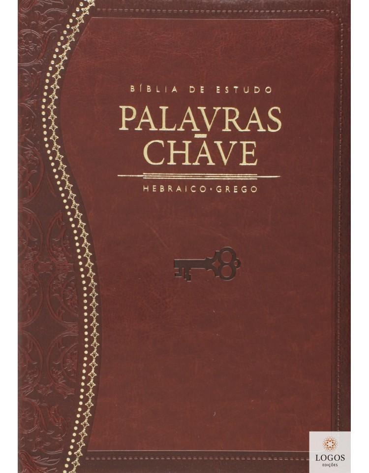 Bíblia de Estudo Palavras-chave - edição de luxo - capa castanha. 9788526306839