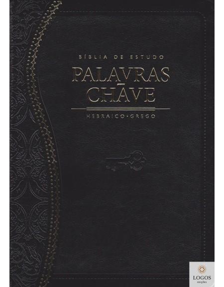Bíblia de Estudo Palavras-chave - edição de luxo - capa preta. 9788526307274