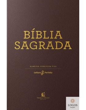 Bíblia Leitura Perfeita - ACF - edição de luxo - capa castanha com beiras douradas. 9788566997873