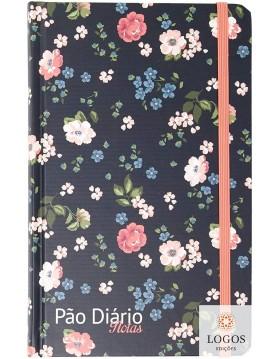 Pão diário - caderno de notas - Floral preto. 9781680434699