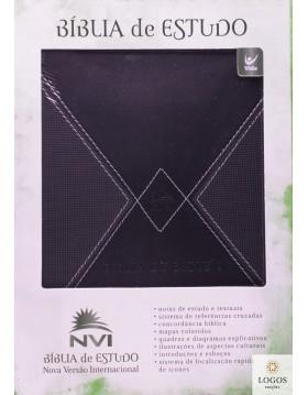Bíblia de Estudo NVI - edição de luxo - capa preta. 9788000001890