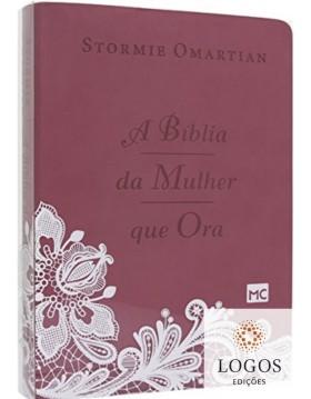 A Bíblia da Mulher que Ora - Caixa cristal (imitação de couro). 7898950265425. Stormie Omartian