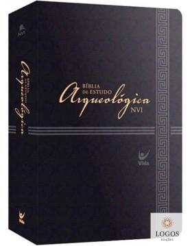 Bíblia de Estudo Arqueológica - NVI - capa luxo preta. 9788000003085
