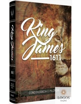 Bíblia King James 1611 - com concordância e pilcrow - capa artística leão. 9786586996036