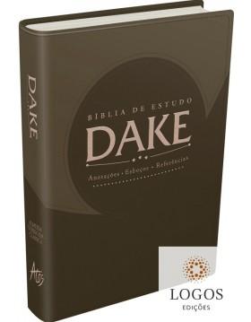 Bíblia de estudo DAKE - capa castanha. 9788576071518