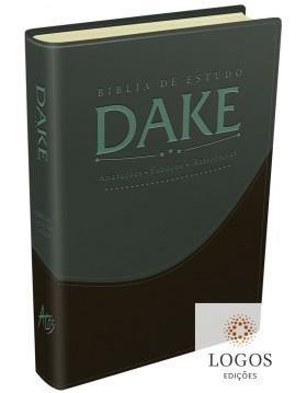 Bíblia de estudo DAKE - capa verde e preta. 9788576071488