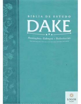 Bíblia de estudo DAKE - capa turquesa. 9788576071518