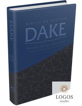 Bíblia de estudo DAKE - capa azul e cinza. 9788576071471