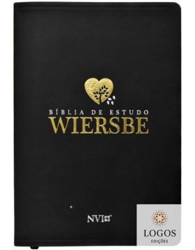Bíblia de Estudo Wiersbe - capa luxo preta. 9788580641905